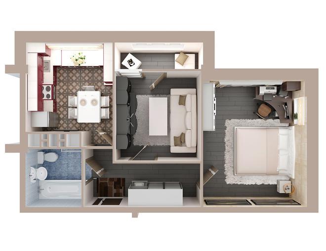 3 D планировки квартир